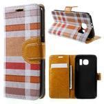 Módní stylové pouzdri na Samsung Galaxy S6 - oranžové - 1/7