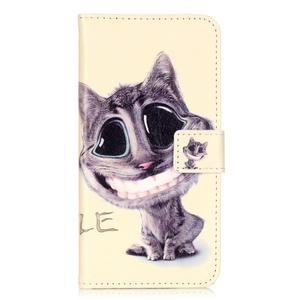 Emotive PU kožené pouzdro na mobil Honor 7 Lite - kočka - 1