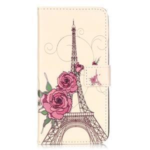 Emotive PU kožené pouzdro na mobil Honor 7 Lite - Eiffelova věž - 1