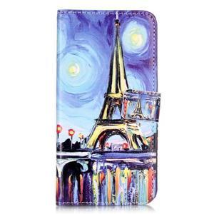 Emotive PU kožené pouzdro na mobil Honor 7 Lite - Eiffelovka - 1