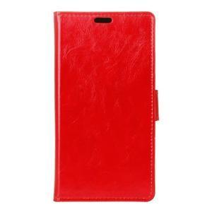 Horse PU kožené pouzdro na mobil Honor 7 Lite - červené - 1