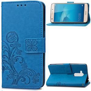 Buttefly PU kožené pouzdro na mobil Honor 7 Lite  - modré - 1