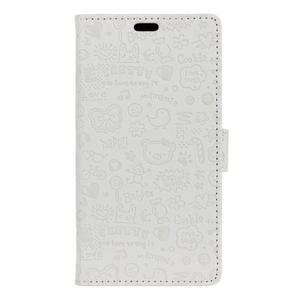 Cartoo pouzdro na mobil Honor 7 Lite - bílé - 1