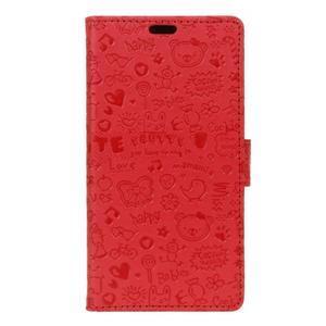 Cartoo pouzdro na mobil Honor 7 Lite - červené - 1