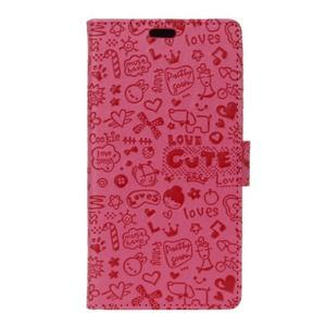 Cartoo pouzdro na mobil Honor 7 Lite - rose - 1