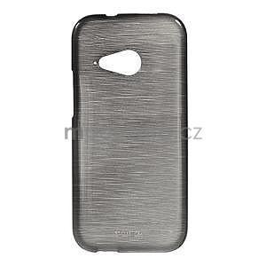 Broušený gelový obal na HTC One mini 2 - černý - 1