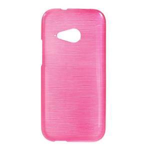 Broušený gelový obal na HTC One mini 2 - rose - 1