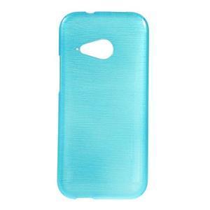 Broušený gelový obal na HTC One mini 2 - světle modrý - 1