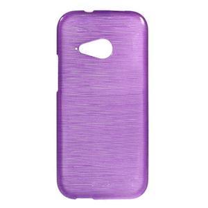 Broušený gelový obal na HTC One mini 2 - fialový - 1