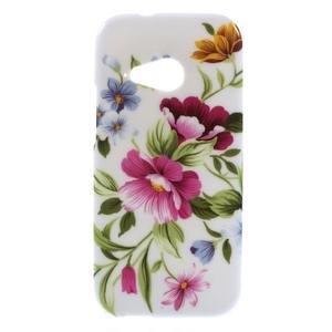 Gelový kryt na HTC One mini 2 - květiny - 1