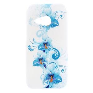 Gelový kryt na HTC One mini 2 - modrá lilie - 1