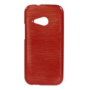 Broušený gelový obal na HTC One mini 2 - červený - 1