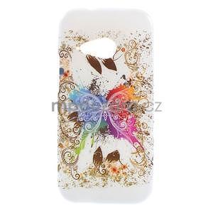 Gelový kryt na HTC One mini 2 - barevní motýlci - 1