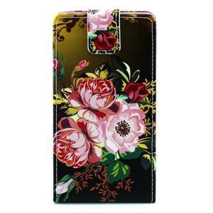 Flipové pouzdro pro Huawei Ascend P8 - kvetoucí květiny - 1