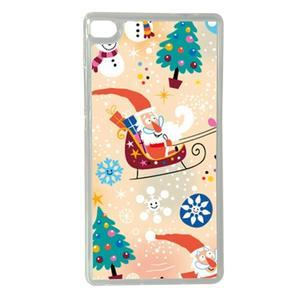 Vánoční edice gelových obalů na Huawei Ascend P8 - Santa - 1