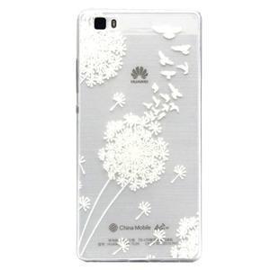 Transparentní gelový obal na Huawei Ascend P8 Lite - pampeliška - 1