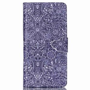 Pouzdro na mobil Huawei P8 Lite - textury květin - 1