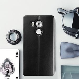 Vintage PU kožené pouzdro na mobil Huawei Mate 8 - černé - 1