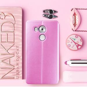 Vintage PU kožené pouzdro na mobil Huawei Mate 8 - růžové - 1