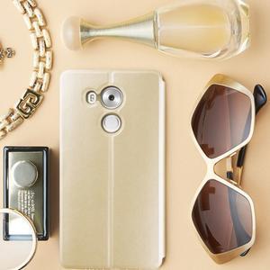 Vintage PU kožené pouzdro na mobil Huawei Mate 8 - zlaté - 1