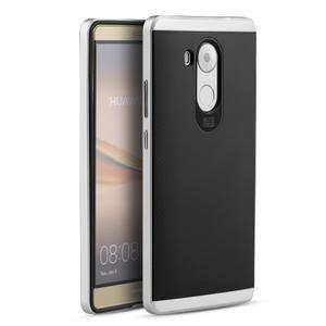 Odolný obal 2v1 s výstuhami na Huawei Mate 8 - stříbrný - 1