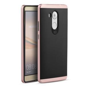 Odolný obal 2v1 s výstuhami na Huawei Mate 8 - zlatorůžový - 1