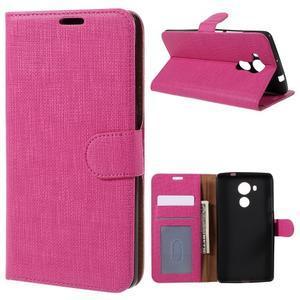 Clothy PU kožené pouzdro na Huawei Mate 8 - rose - 1