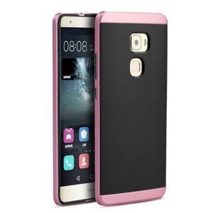 Odolný hybridní obal 2v1 na Huawei Mate S - růžový - 1
