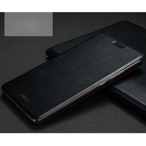 Vintage PU kožené pouzdro s kovovou výstuhou na Huawei Mate S - černé - 1