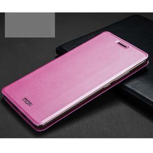 Vintage PU kožené pouzdro s kovovou výstuhou na Huawei Mate S - růžové - 1