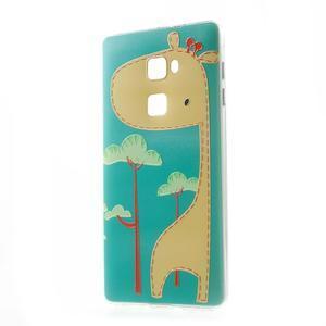 Softy gelový obal na mobil Huawei Mate S - žirafa - 1