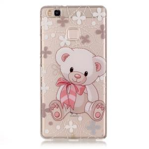 Průhledný gelový obal na mobil Huawei P9 Lite - medvídek - 1