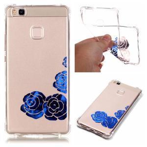 Lacqe gelový obal na Huawei P9 Lite - modré růže - 1