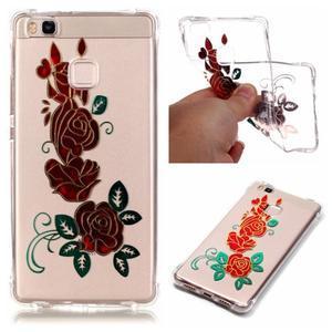 Lacqe gelový obal na Huawei P9 Lite - růže - 1