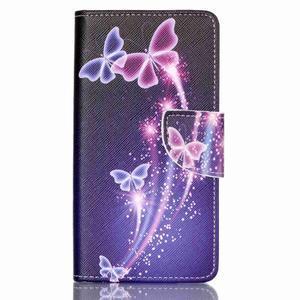 Patter PU kožené pouzdro na mobil Huawei P9 Lite - kouzelní motýlci - 1