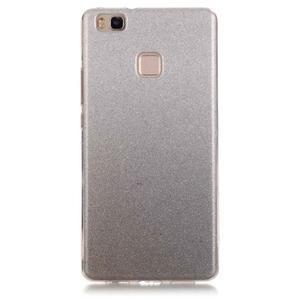 Gradient třpytivý gelový obal na Huawei P9 Lite - šedý - 1