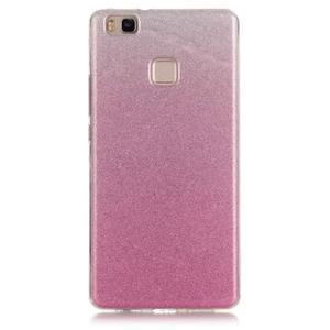Gradient třpytivý gelový obal na Huawei P9 Lite - růžový - 1