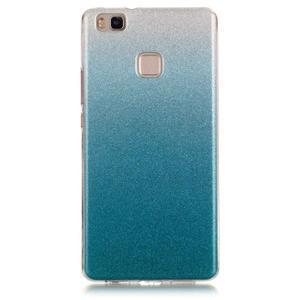 Gradient třpytivý gelový obal na Huawei P9 Lite - světlemodrý - 1