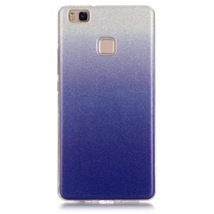 Gradient třpytivý gelový obal na Huawei P9 Lite - tmavěmodrý - 1