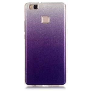 Gradient třpytivý gelový obal na Huawei P9 Lite - fialový - 1