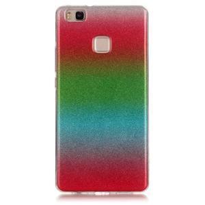 Gradient třpytivý gelový obal na Huawei P9 Lite - mix barev I - 1