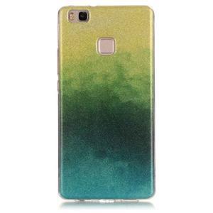 Gradient třpytivý gelový obal na Huawei P9 Lite - mix barev II - 1