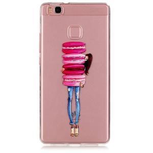 Transparentní obal na telefon Huawei P9 Lite - makrónky - 1
