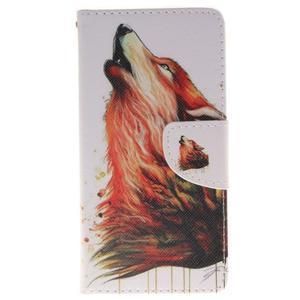 Lethy knížkové pouzdro na telefon Huawei P9 Lite - mýtický vlk - 1