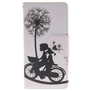 Lethy knížkové pouzdro na telefon Huawei P9 Lite - láska na kole - 1