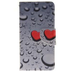 Lethy knížkové pouzdro na telefon Huawei P9 Lite - srdíčka - 1