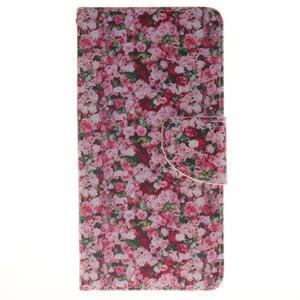 Lethy knížkové pouzdro na telefon Huawei P9 Lite - koláž růží - 1