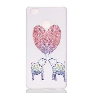 Shelly plastový obal na mobil Huawei P9 Lite - zamilovaní sloni - 1