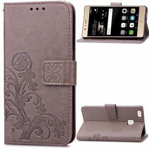 Cloverleaf peněženkové pouzdro na Huawei P9 Lite - šedé - 1