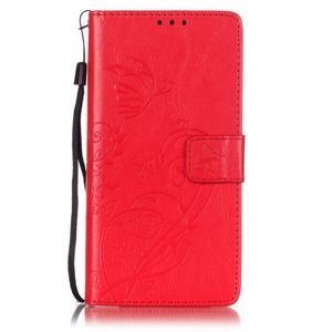 Magicfly knížkové pouzdro na telefon Huawei P9 Lite - červené - 1